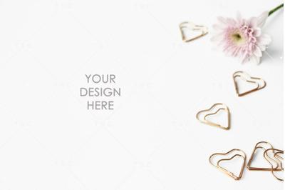 Pink & Rose Gold Stock Photo