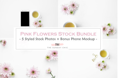 Pink Flower &Tea Stock Bundle
