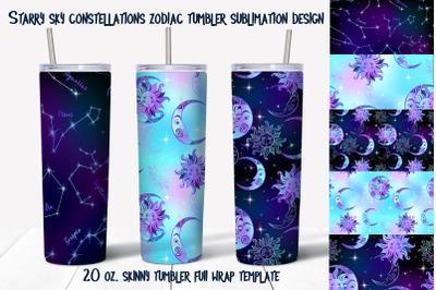 Skinny tumbler Png. Starry sky design. Skinny tumbler wrap design.