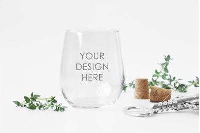 Stemless Wine GlassMockup