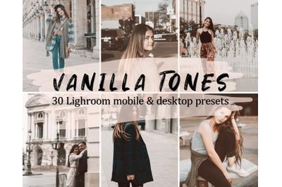 30 Vanilla Lightroom Presets, Lightroom Mobile & Desktop Presets Pack