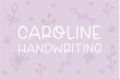 CAROLINE Handwriting Font