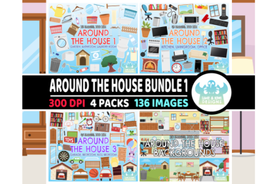 Around the House Clipart Bundle 1 - Lime and Kiwi Designs