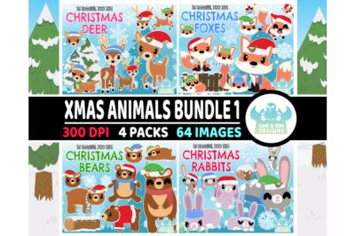 Christmas Animals Clipart Bundle 1 - Lime and Kiwi Designs