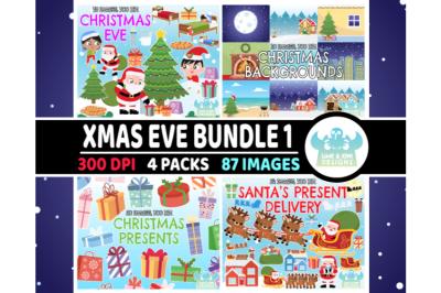 Christmas Eve Clipart Bundle 1 - Lime and Kiwi Designs