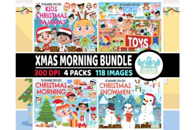Christmas Morning Clipart Bundle 1 - Lime and Kiwi Designs