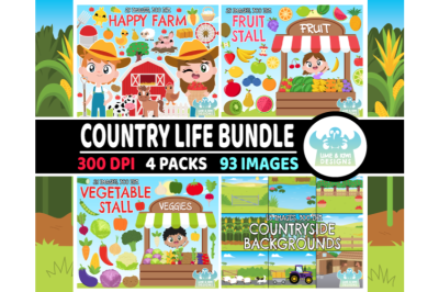 Country Life Clipart Bundle 1 - Lime and Kiwi Designs
