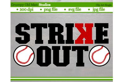 baseball strike out | backwards K