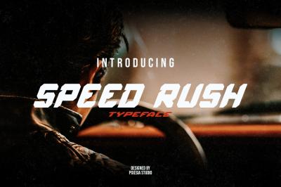 Speed Rush - A Car Racing Display Font