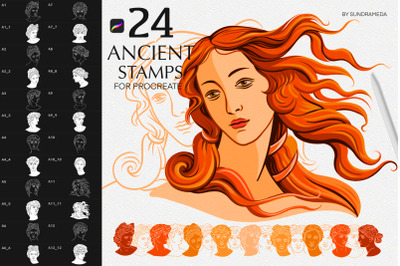 Antique Greek Statues for Procreate
