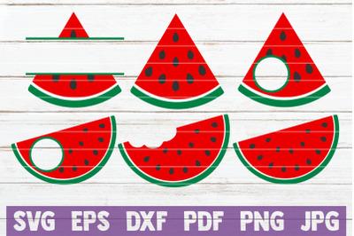 Watermelon SVG Monograms
