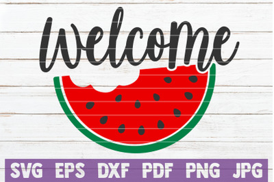 Welcome SVG Cut File
