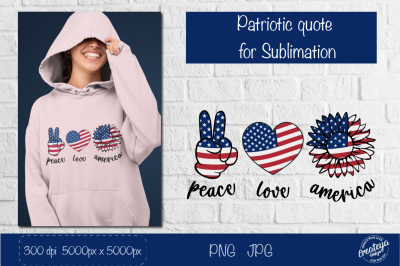 Patriotic Sublimation. Sunflower us flag, 4th of July.