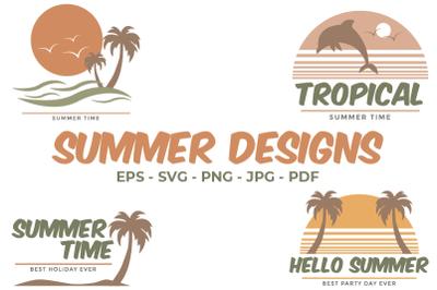Sublimation Summer Designs Vector |  Designs