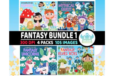 Fantasy Clipart Bundle 1 - Lime and Kiwi Designs