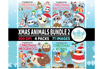Christmas Animals Clipart Bundle 2 - Lime and Kiwi Designs