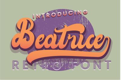 Beatrice Retro Font