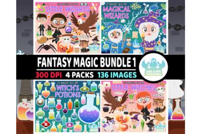 Fantasy Magic Clipart Bundle 1 - Lime and Kiwi Designs