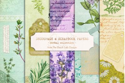 Digital Decoupage & Scrapbook Sheets Set 4