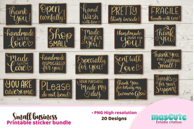 Packaging and Small Business Sticker Bundle Printable