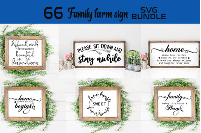 Family farm sign SVG bundle, Family farm house sign SVGs