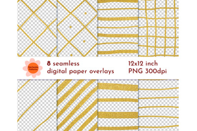 GOLD background overlay SEAMLESS pattern Geometric papers