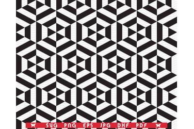 SVG Hexagons, Black Seamless pattern, Digital clipart