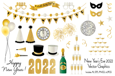 New Year's Eve 2022 Graphics