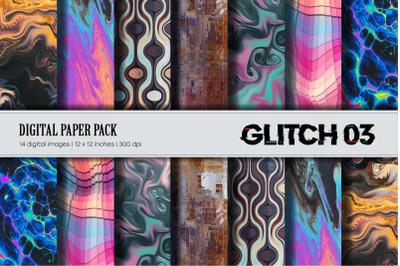 Glitch Psychedelic 03 Digital Paper