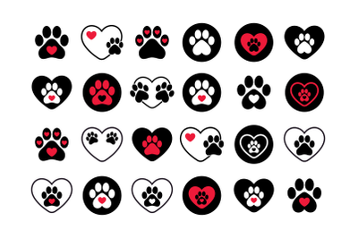 Dog Paws & Hearts