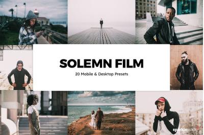 20  Solemn Film LR Presets