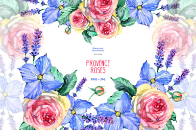 Watercolor Provence clipart