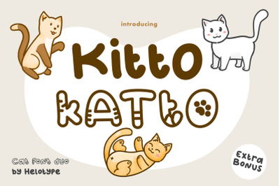Kitto Katto Cat Font Duo with Bonus