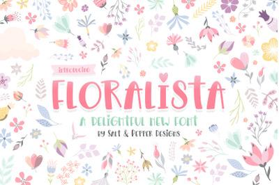 Floralista Font (Procreate Fonts, Girly Fonts, Summer Fonts)