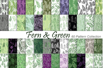 Fern & Greenery Patterns Watercolor Patterns. Digital paper
