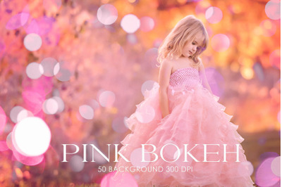 Pink overlays bokeh