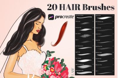 20 Procreate Hair Brushes