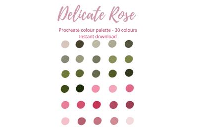 Delicate Rose Procreate Palette/Swatch