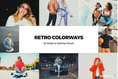 20  Retro Colorways LR Presets