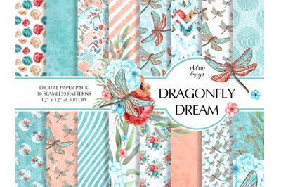 Dragonfly Dream Digital Paper Pack