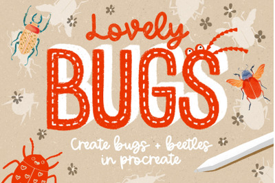 Lovely Bugs Stamp Set for Procreate
