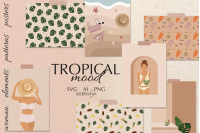 Tropical mood vector collection
