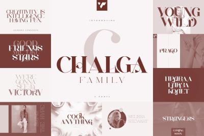 Chalga Family - 7 fonts