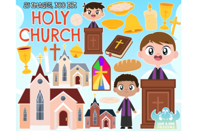 Holy Church Clipart - Lime and Kiwi Designs