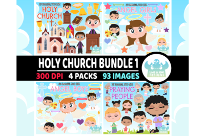 Holy Church Clipart Bundle 1 - Lime and Kiwi Designs