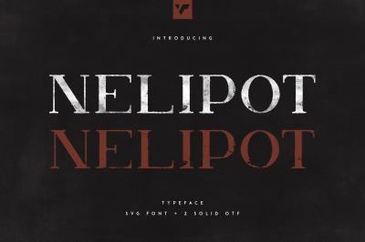 Nelipot Typeface - SVG + 2 OTF fonts
