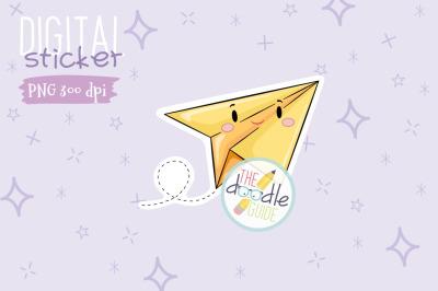 Paper Plane Sticker