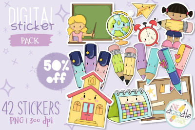 School  Sticker Bundle (50% off)