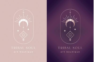 Premade Tribal Soul Brand Logo Design for Blog or Small Business.