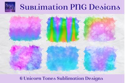 Sublimation PNG Designs - Unicorn Tones Multicolour Images